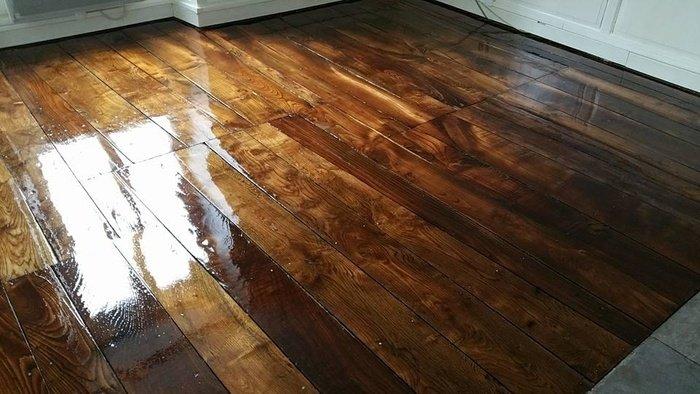 Rénovation d'un plancher en chêne